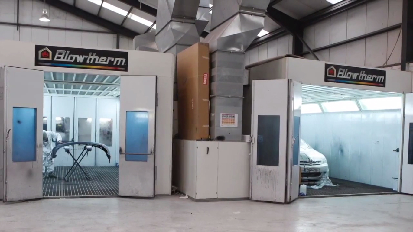 Blowtherm spray booths